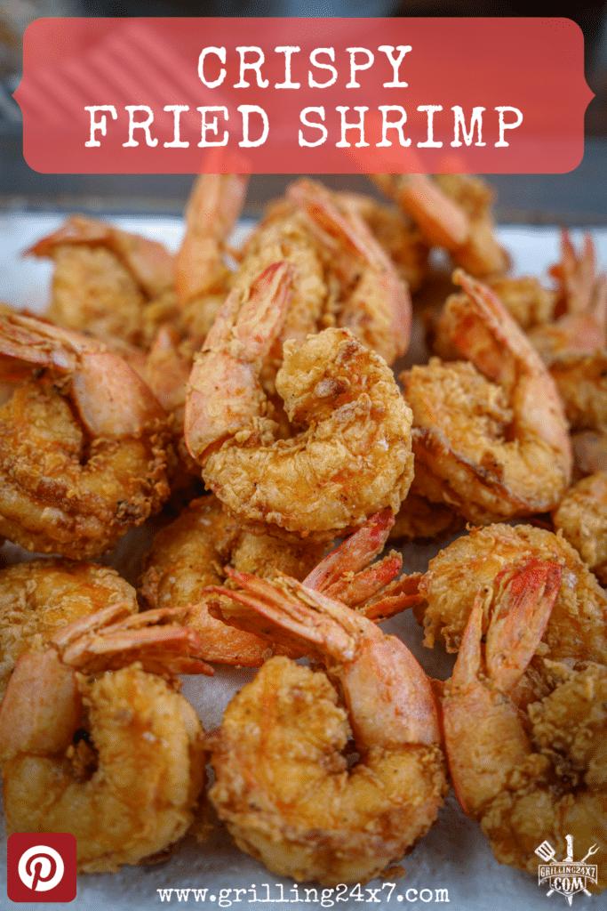 large pile of crispy deep fried shrimp