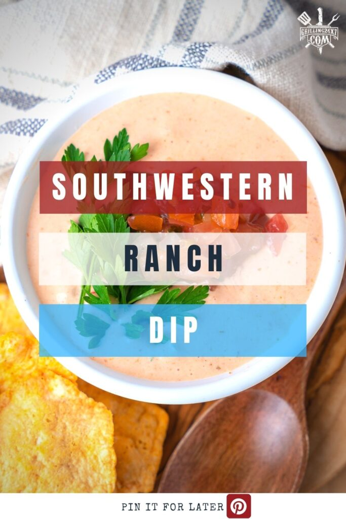 southwestern ranch garnished with parsley and fresh salsa