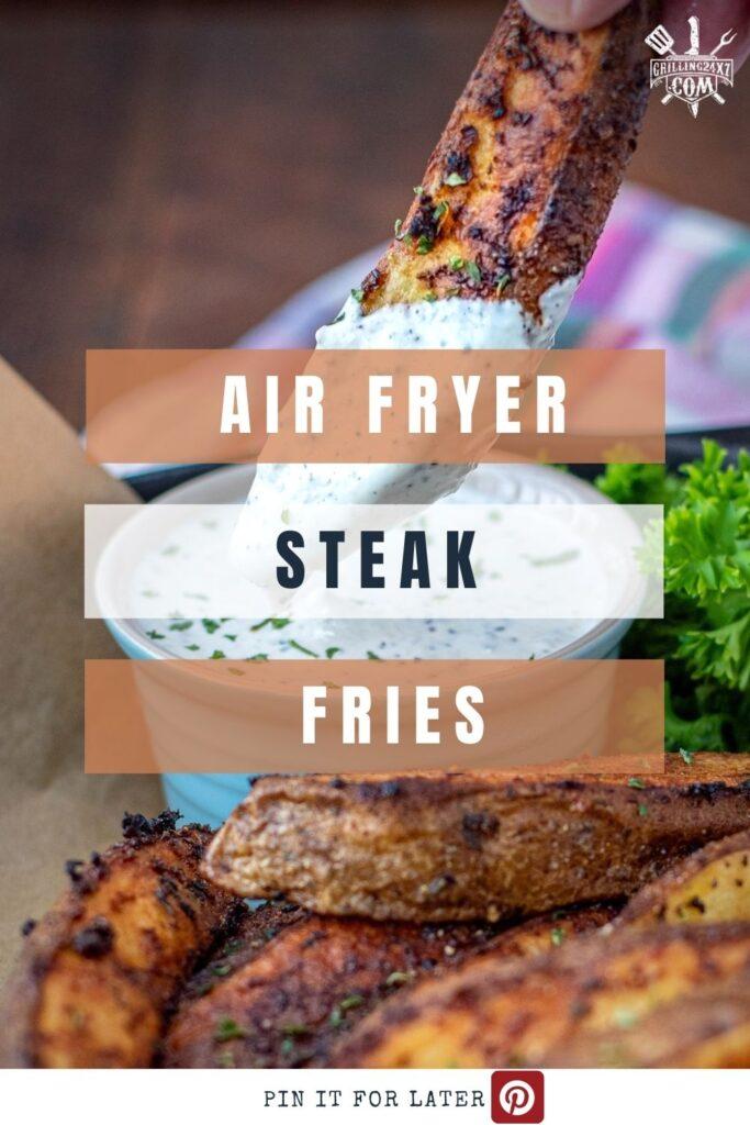 steak fries made in an air fryer