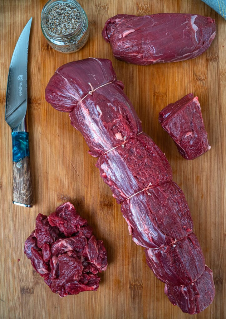 trimmed and tied whole beef tenderloin