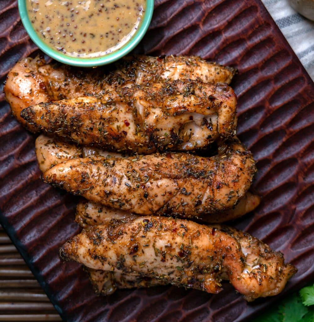 grilled chicken tenders with jerk seasoning