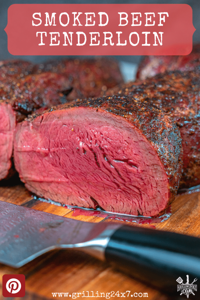 whole tenderloin smoked and sliced in half